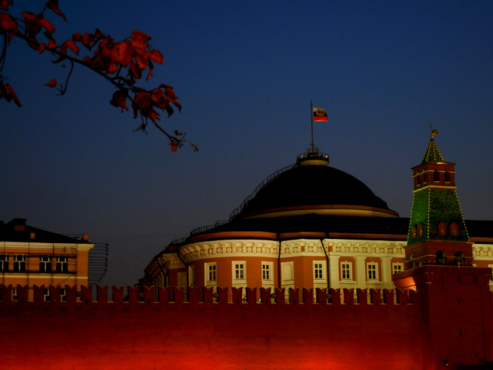 Kremlin at night Sarah Peck