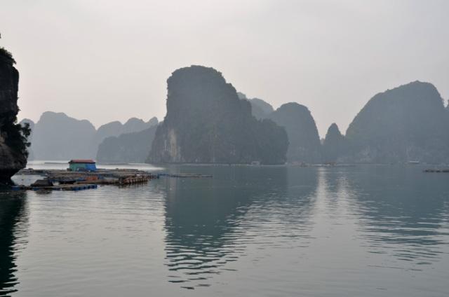 Fishing community Ha Long Bay Vietnam